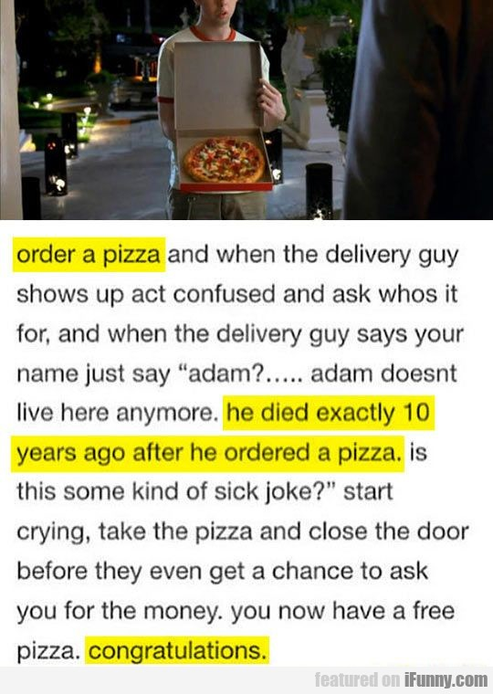 Order A Pizza