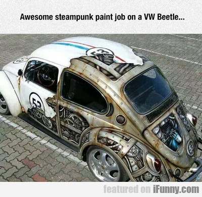 Awesome Steampunk Paintjob...