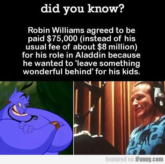 Robin Williams Agreed To Be Paid