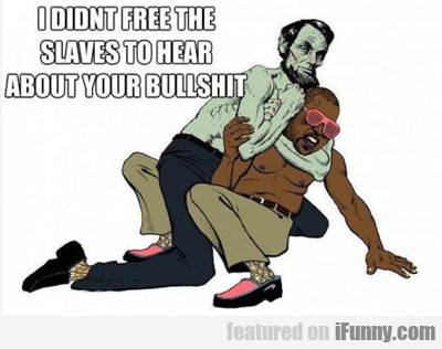 I Didn't Free The Slaves...