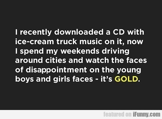 I Recently Downloaded A Cd With Ice-cream