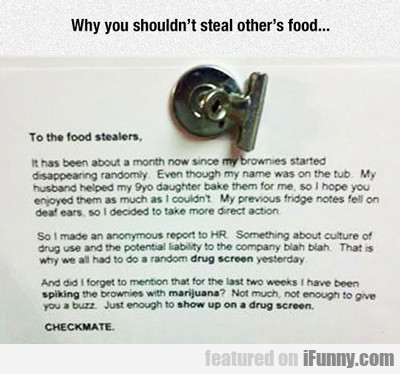 Why You Shouldn't Steal Other's Food...