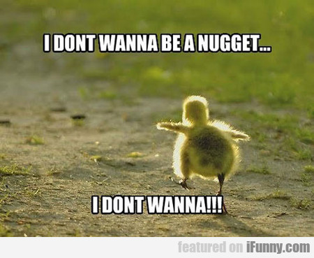 i don't wanna be a nugget...