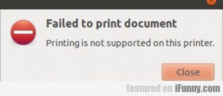 Failed To Print Document, Printing Is Not...