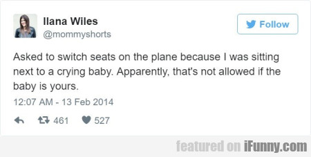 asked to switch seats on the plane because...