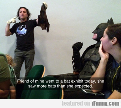 Friends Of Mine Went To A Bat Exhibit....
