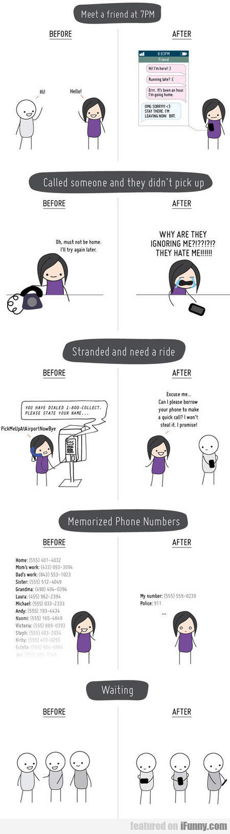 Life Before And After Mobile Phones