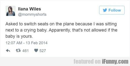 Asked To Switch Seats On The Plane...