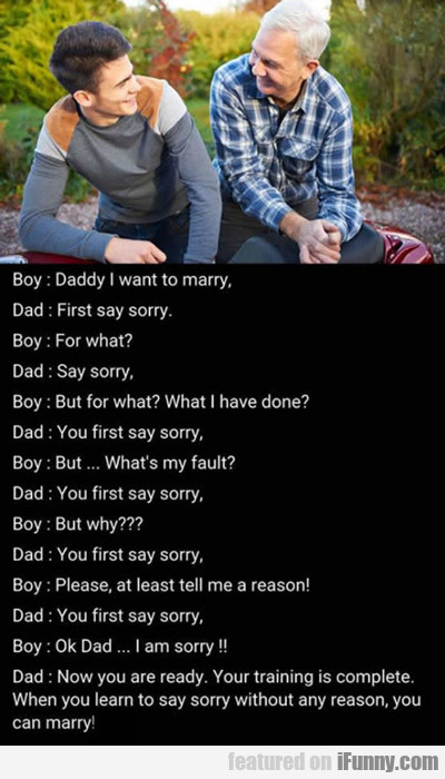 Say Sorry...