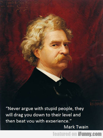 Don't Argue With Stupid People...