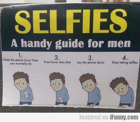 Selfies - A Handy Guide For Men
