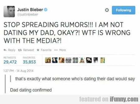 Stop Spreading Rumors...