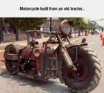 Motorcycle Made From A Tractor...
