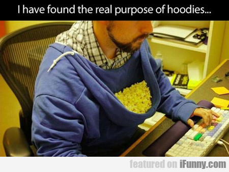 I Have Found The Real Purpose Of Hoodies...