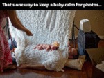 That's One Way To Keep A Baby Calm For Photos