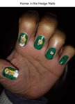 Homer In The Hedge Nails...