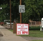 What Part Of 25 Mph Don't You Understand?