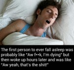 The First Person To Fall Asleep Was Probably...
