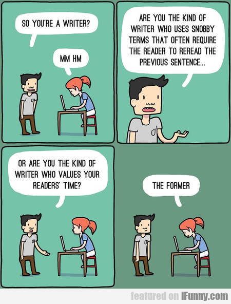 So You're A Writer?