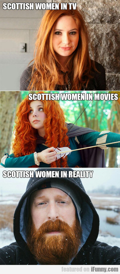 Scottish Women On Tv, Scottish Women In Movies...