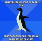 I'm Fat Because I Don't Go To The Gym...