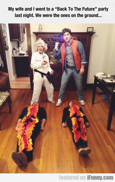 my wife and i went to a back to the future party