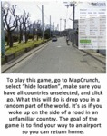 To Play This Game, Go To Mapcrunch