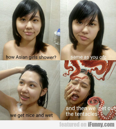 How Asian Girls Shower...