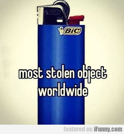 Most Stolen Object Worldwide...