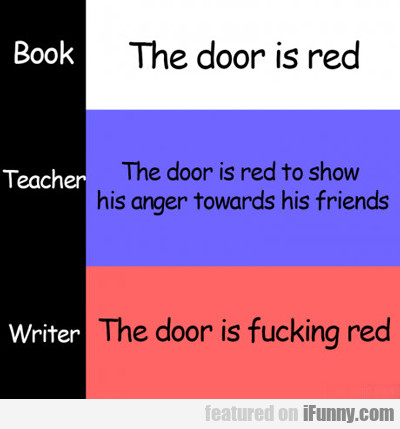 The Door Is Red...