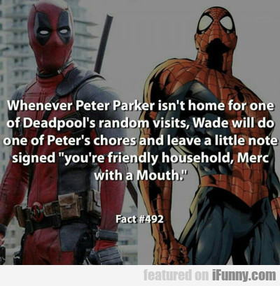 Whenever Peter Parker...