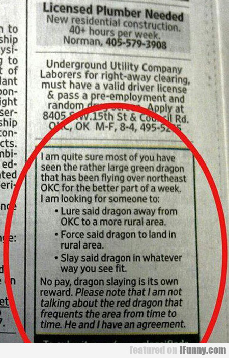 I'm Quite Sure You Have Seen A Large Green Dragon
