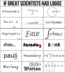 If Great Scientists Had Logos