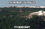 The Moment You Realize It's Minecraft...