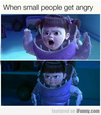 When Small People Get Angry...