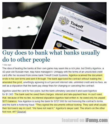 Guy Does To Bank What Banks Usually Do