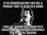 If In A Conversation You Say...