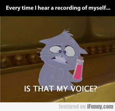 Everytime I Hear A Recording Of Myself...