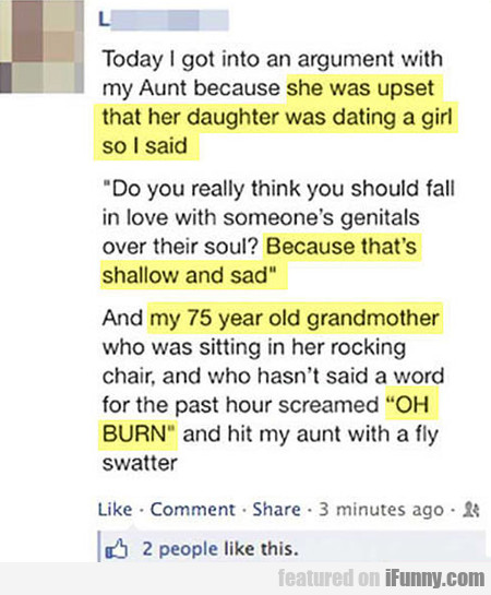 she was upset that her daughter was dating a girl