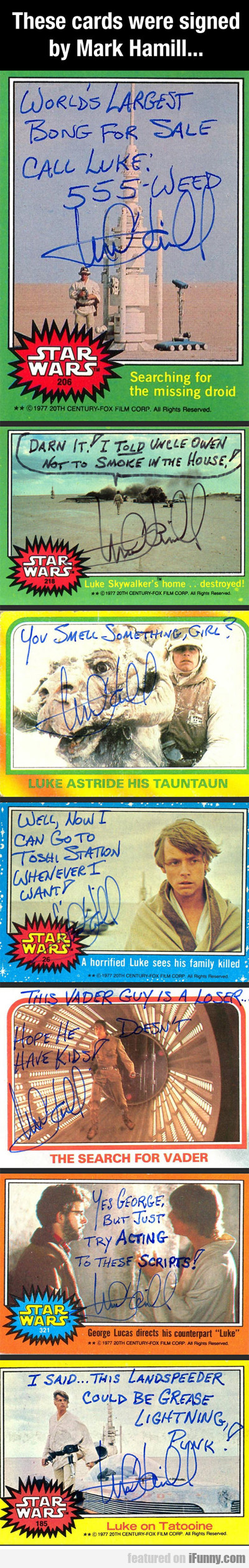 Luke Skywalker Autographs...