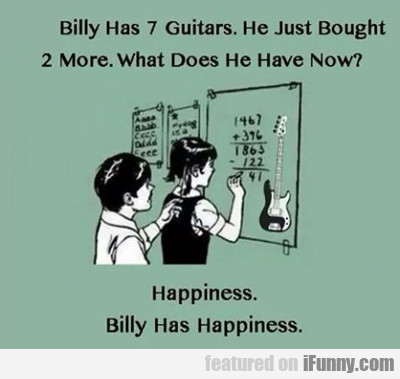 Billy Has 2 Guitars...