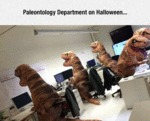 Palaeontology Department At Halloween...