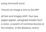 Using Microsoft Word...