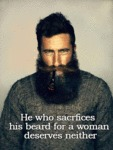 A Man Who Shaves His Beard...