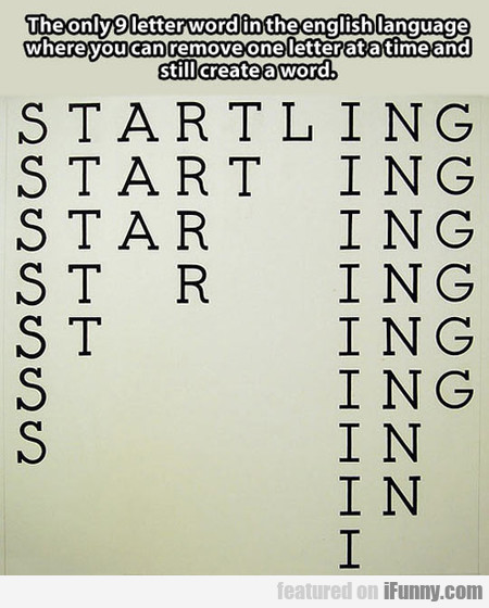 The Only 9 Letter Word In The English Language...