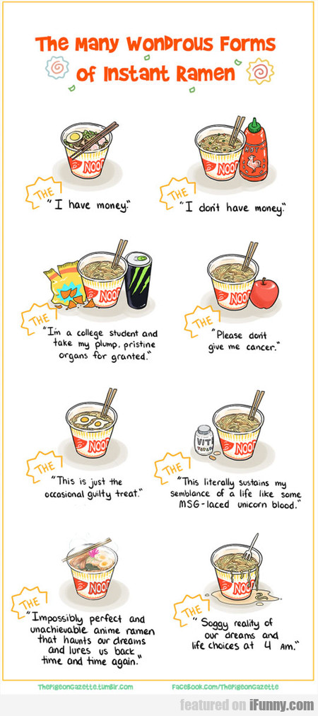 the many wondrous forms of instant ramen