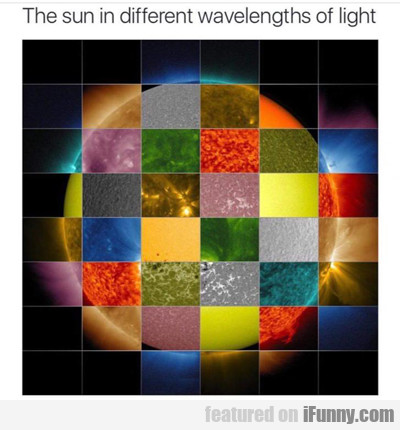 The Sun In Different Wavelengths Of Light...