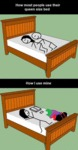 How Most People Use Their Bed...