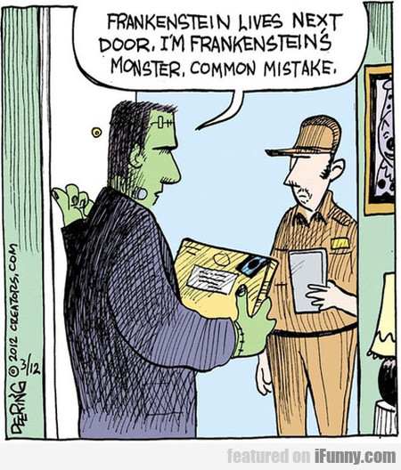 Frankenstein Lives Next Door
