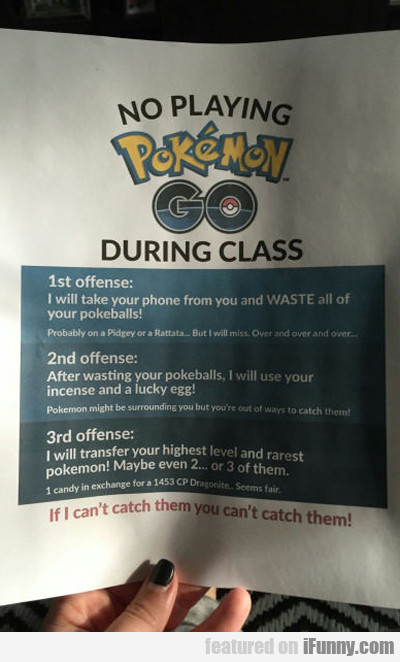 Pokemon Go In School...